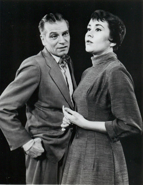 Laurence Olivier and Joan Plowright in The Entertainer, 1960