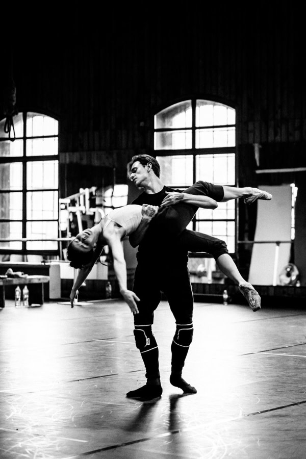 Sergei Polunin and Natalia Osipova in rehearsals for Satori (Photo: Srđan Srđenović)