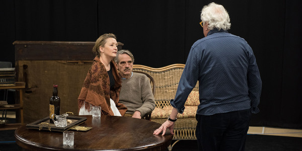 Lesley Manville and Jeremy Irons in rehearsal for Long Day's Journey Into Night