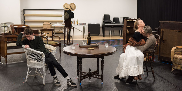 The cast of Long Day's Journey Into Night in rehearsal