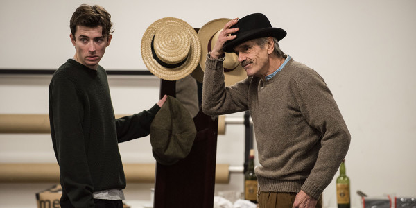 Matthew Beard and Jeremy Irons in rehearsal for Long Day's Journey Into Night