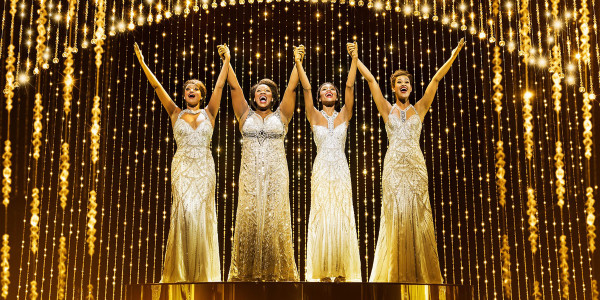 Asmeret Ghebremichael, Moya Angela, Brennyn Lark and Kimmy Edwards in Dreamgirls at the Savoy Theatre (Photo: Dewynters)