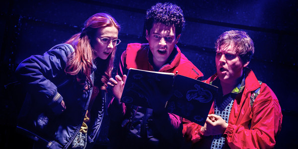 Laura Baldwin, Liam Forde and Dan Buckley in Eugenius! The Musical at The Other Palace (Photo: Pamela Raith)