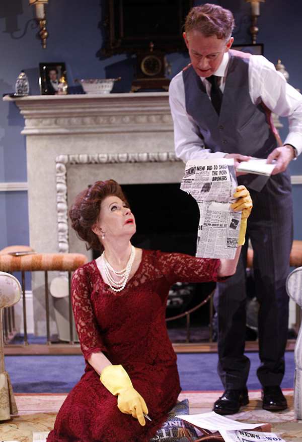Felicity Dean and Richard Stirling (Queen Mother's Butler) in A Princess Undone (Photo: Simon Annand)