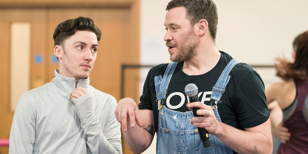Drew McOnie and Will Young in Strictly Ballroom The Musical rehearsals (Photo: Johan Persson)