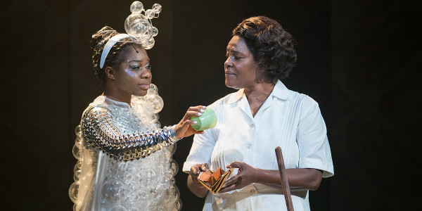 Me'sha Bryan (The Washing Machine) and Sharon D Clarke in Caroline, Or Change (Photo: Alastair Muir)