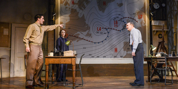 Philip Cairns, Laura Rogers and David Haig in Pressure at Park Theatre (Photo: Robert Day)