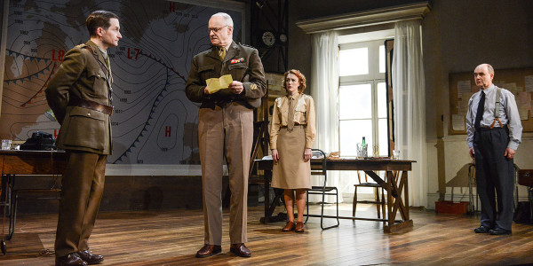 William Mannering, Malcolm Sinclair, Laura Rogers and David Haig in Pressure at Park Theatre (Photo: Robert Day)