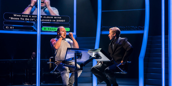 Gavin Spokes and Keir Charles in Quiz at Chichester Festival Theatre (Photo: Johan Persson)