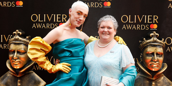 The true story of Everybody's Talking About Jamie: Jamie and Margaret Campbell on the Olivier Awards 2018 with Mastercard red carpet (Photo: Pamela Raith)