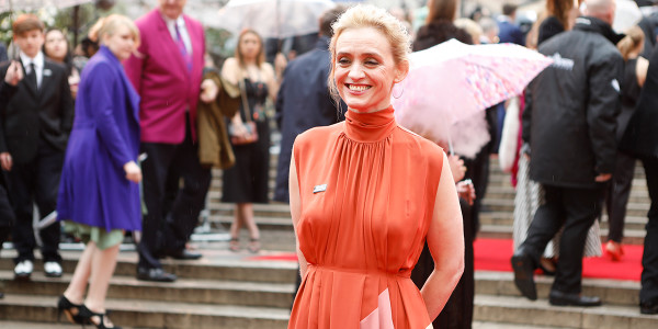 Anne-Marie Duff on the Olivier Awards 2018 with Mastercard red carpet (Photo: Pamela Raith)