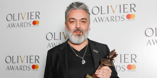 Jez Butterworth backstage at the 2018 Olivier Awards
