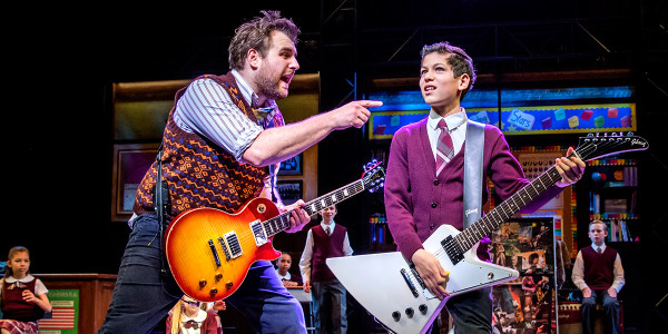 Stephen Leask and Santiago Cerchione in School Of Rock (Photo: Tristram Kenton)