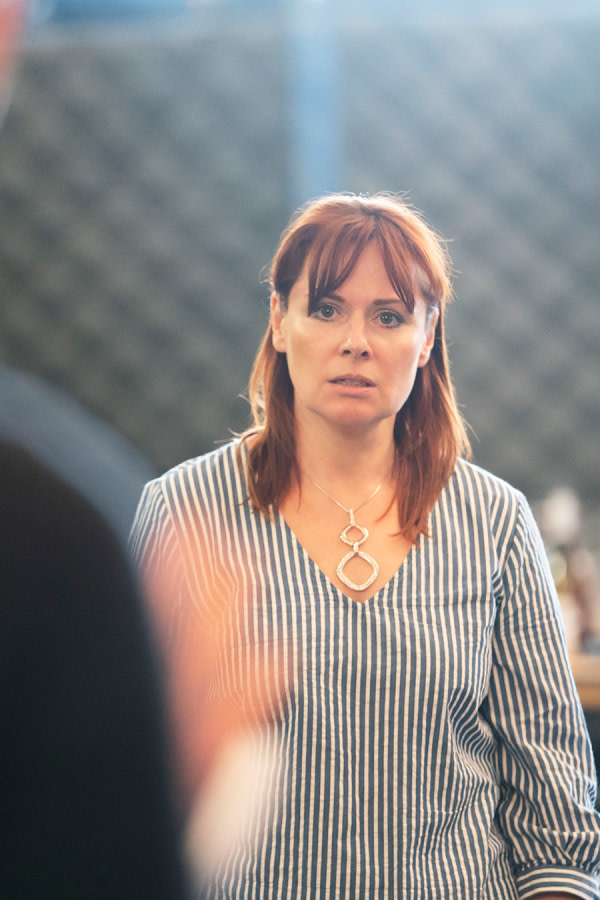 Heather Craney in Consent rehearsals (Photo: Johan Persson)