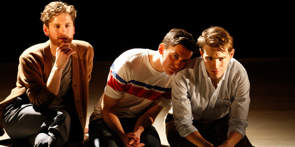 Kyle Soller, Samuel H Levine and Andrew Burnap in The Inheritance (Photo: Simon Annand)