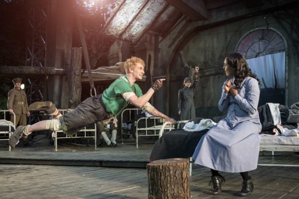 Sam Angell and Cora Kirk as Peter and Wendy - Photo Johan Persson