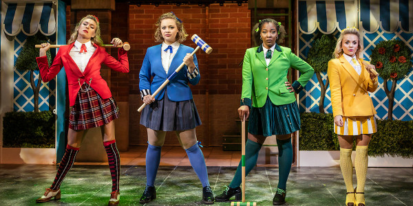 Jodie Steele, Carrie Hope Fletcher, T'Shan Williams and Sophie Isaacs in Heathers The Musical (Photo: Pamela Raith)