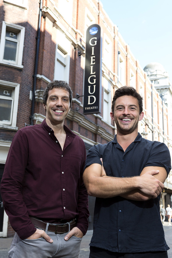 Alex Gaumond and Jonathan Bailey at the Gielgud Theatre (Photo: Alex Rumford)