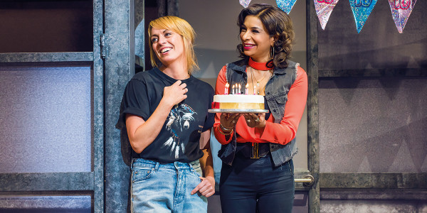 Rebecca McKinnis and Mina Anwar in Everybody's Talking About Jamie. Photo by Alastair Muir