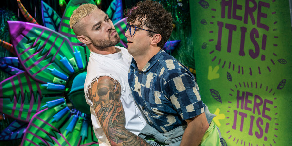 Matt Willis and Marc Antolin in Little Shop Of Horrors (Photo: Johan Persson)