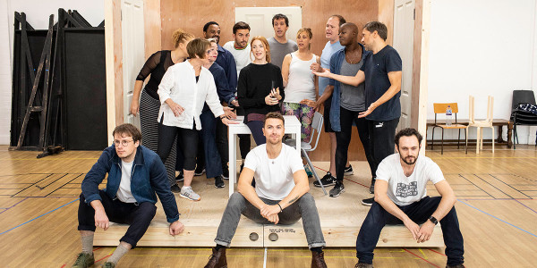The cast of Company in rehearsals (Photo: Helen Maybanks)