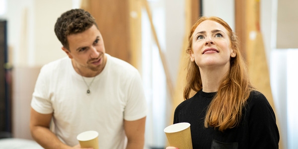 Richard Fleeshman and Rosalie Craig in Company rehearsals (Photo: Helen Maybanks)