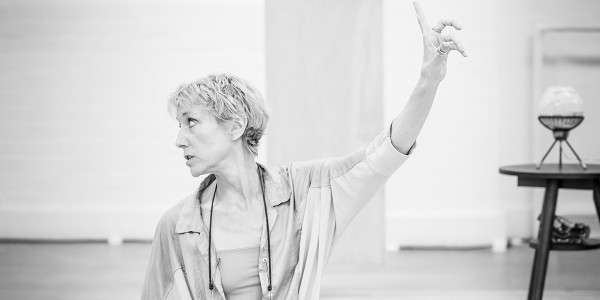Director Lia Williams in rehearsal for Pinter One (Photo: Marc Brenner)