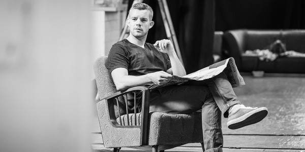 Russell Tovey in rehearsal for Pinter Two (Photo: Marc Brenner)