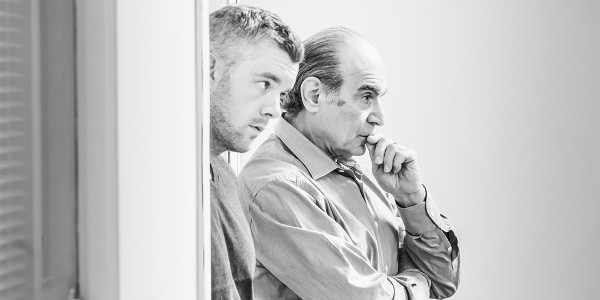 Russell Tovey and David Suchet in rehearsal for Pinter Two (Photo: Marc Brenner)