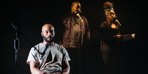 Arinzé Kene, Adrian McLeod and Shiloh Coke in Misty (Photo: Helen Murray)