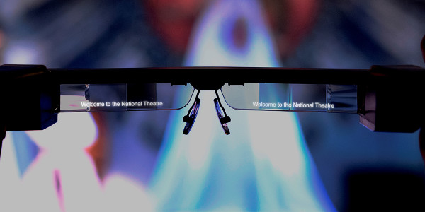 National Theatre Smart Captioning Glasses (Photo: James Bellorini, Design: Alex Bell)