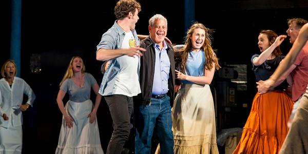 Charlie Stemp, Sir Cameron Mackintosh, Devon Elise Johnson and the cast of Half A Sixpence at the Noël Coward Theatre (Photo: Matt Crockett)