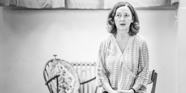 Brid Brennan in Pinter Four rehearsals (Photo: Marc Brenner)