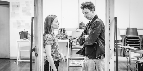 Jessica Barden and Al Weaver in Pinter Four rehearsals (Photo: Marc Brenner)