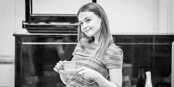 Jessica Barden in Pinter Four rehearsals (Photo: Marc Brenner)