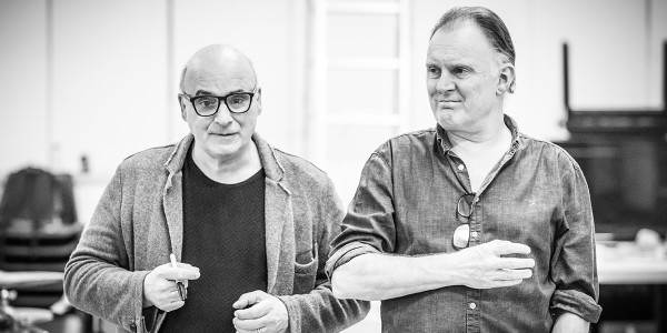 Peter Polycarpou and Robert Glenister in Pinter Four rehearsals (Photo: Marc Brenner)