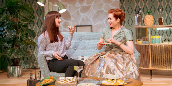 Sara Gregory and Katherine Parkinson in Home, I'm Darling (Photo: Manuel Harlan)