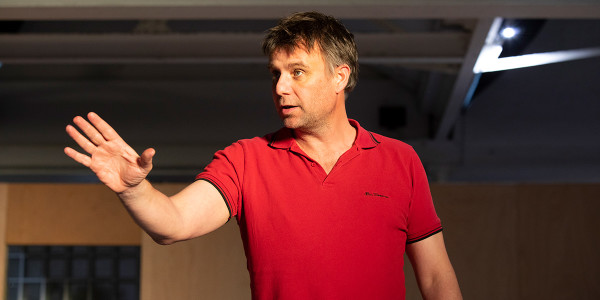 Stuart Laing in The Curious Incident Of Dog In The Night-Time rehearsals (Photo: Ellie Kurttz)