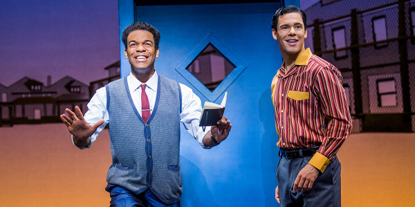 Jay Perry (Berry Gordy) and David Albury (Smokey Robinson) in Motown The Musical (Photo: Tristram Kenton)