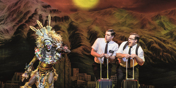 The cast of The Book Of Mormon musical, now playing at the Prince Of Wales Theatre (Photo: Johan Persson)