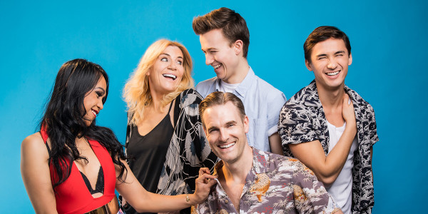 The cast of My Dad's Gap Year (Photo: Michael Wharley)