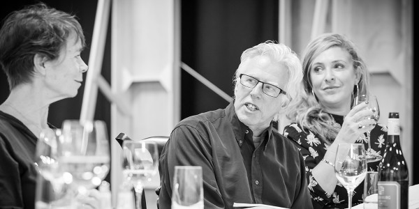 Celia Imrie, Phil Davis and Tracy-Ann Oberman in rehearsal for Pinter Six (Photo: Marc Brenner)
