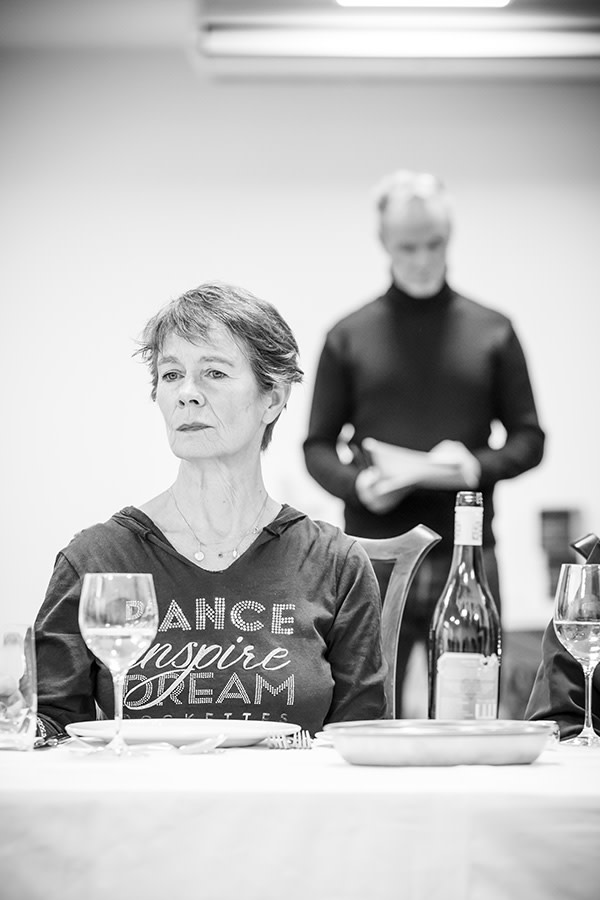 Celia Imrie in rehearsal for Pinter Six (Photo: Marc Brenner)