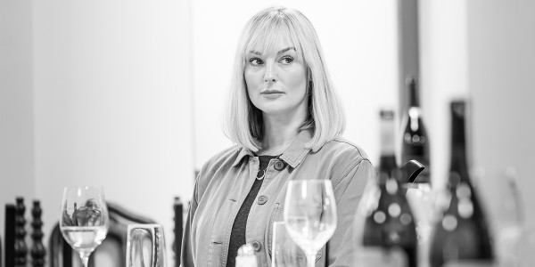 Katherine Kingsley in rehearsal for Pinter Six (Photo: Marc Brenner)