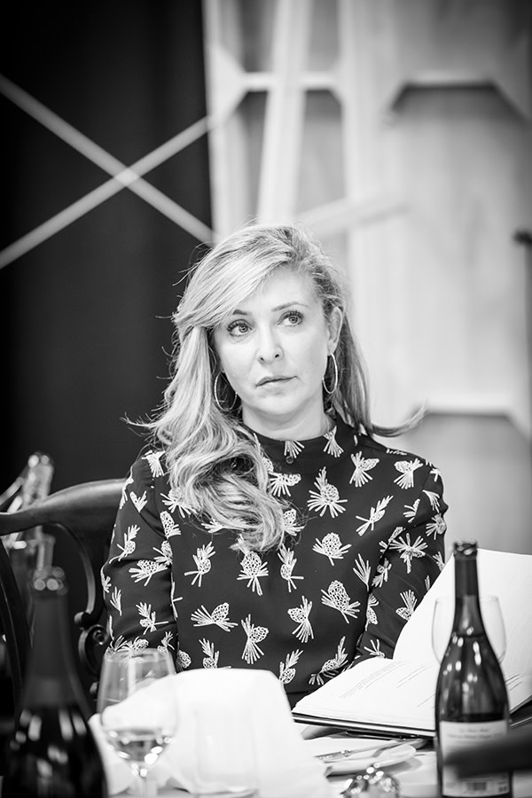 Tracy-Ann Oberman in rehearsal for Pinter Six (Photo: Marc Brenner)