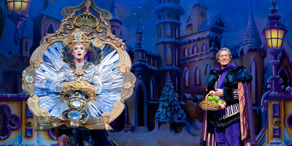 Julian Clary and Nigel Havers in Snow White (Photo: Paul Coltas)