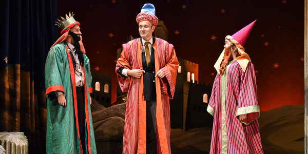 John Marquez, Hugh Dennis and Lesley Garrett in The Messiah (Photo: Robert Day)