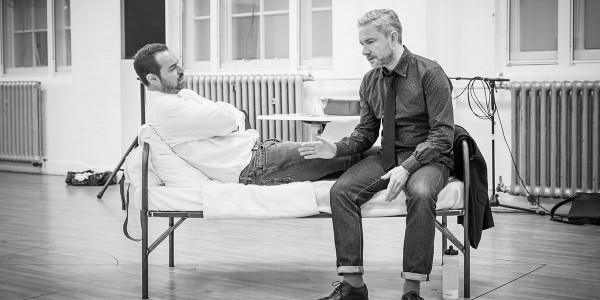 Danny Dyer and Martin Freeman in rehearsals for Pinter Seven (Photo: Marc Brenner)