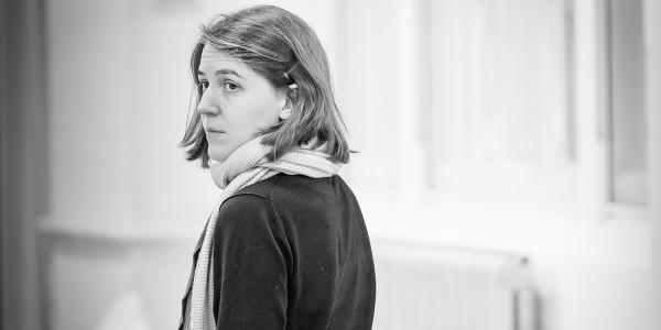 Gemma Whelan in rehearsals for Pinter Seven (Photo: Marc Brenner)