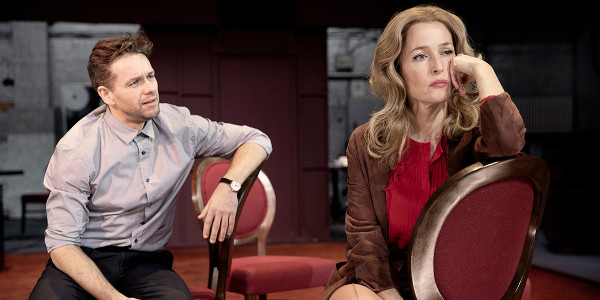 Julian Ovenden and Gillian Anderson in All About Eve at the Noël Coward Theatre (Photo: Jan Versweyveld)